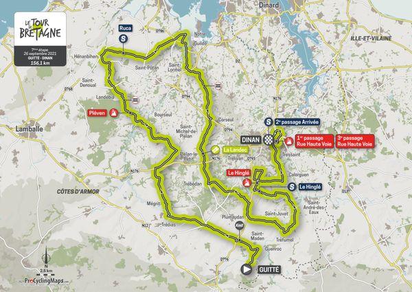 Parcours de la septième étape du Tour de Bretagne 2021