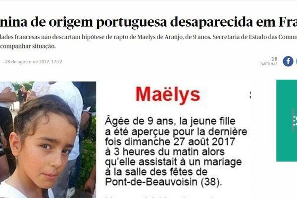 Le journal portugais Pùblico