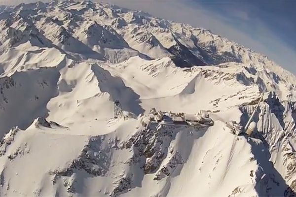 Survol du Pic du Midi au FL100 -  Mars 2013