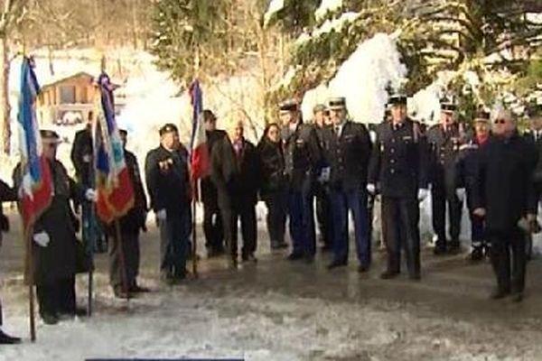 Commémoration en présence des autorités civiles et militaires.