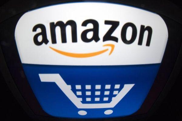 Le logo du géant de la vente en ligne Amazon, fondé en 1995 par Jeff Bezos.