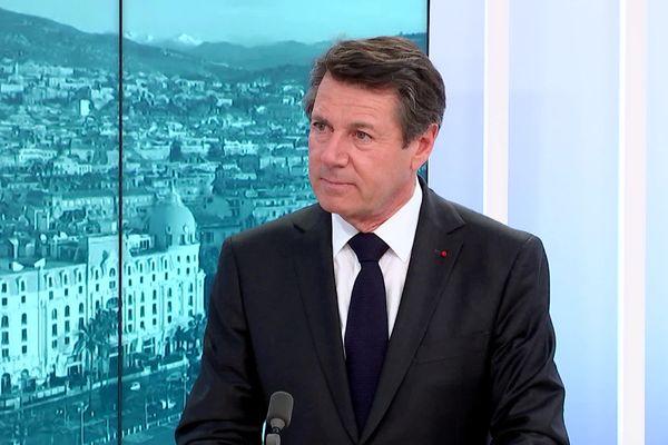 Chrisitan Estrosi sur le plateau de France 3 Côte d'Azur.
