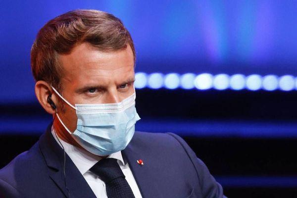 Le président de la République Emmanuel Macron.P HOTO - AFP - LUDOVIC MARIN