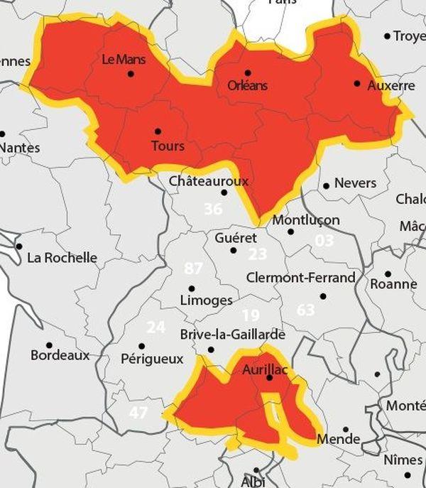 Le secteur de Nogent-sur-Seine (à l'ouest de Troyes, en haut à droite) fait partie de la zone sujette au changement de fréquences de la TNT qui s'opérera le mardi 29 janvier.