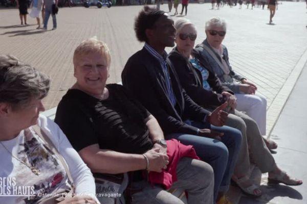 Kamini sur la digue d'Ostende