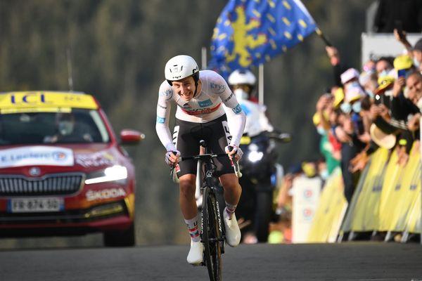 Tadej Pogacar a remporté le contre-la-montre de la Planche des Belles Filles et gagné le maillot jaune.