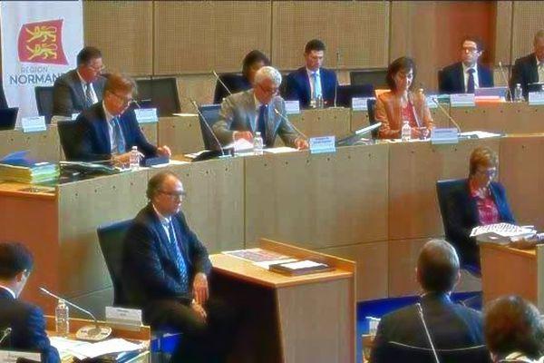 Les conseillers régionaux dans l'hémicycle à Rouen ce 26 mai 2016