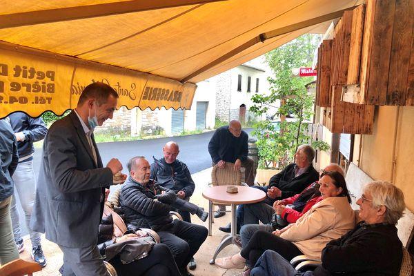 Gilles Simeoni à la rencontre des électrices et des électeurs du Nebbiu.