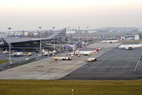 L'aéroport de Lille-Lesquin photographié en décembre 2016.