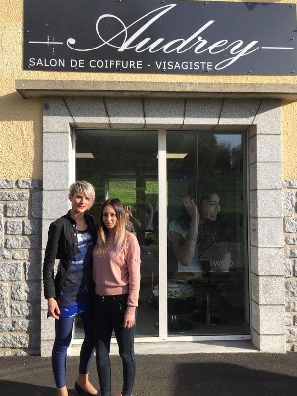 Audrey Marty a créé son salon de coiffure à Parlan dans le Cantal et a embauché.
