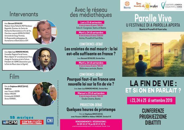 Programme des rencontres Parolle Vive