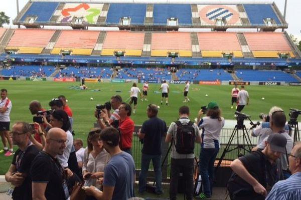 L'équipe de Suisse, la Nati, à l'entraînement au stade de La Mosson à Montpellier - 6 juin 2016
