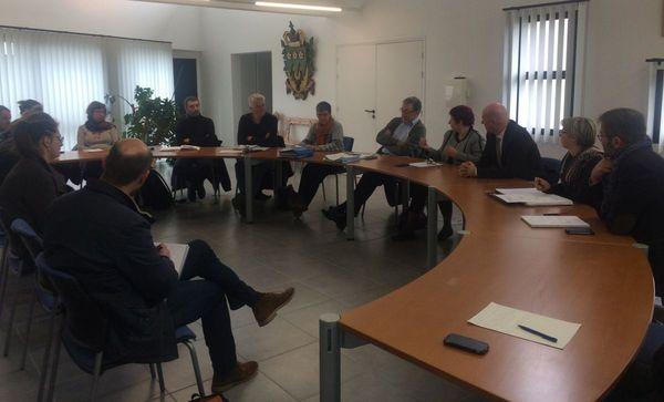 Réunion sur la sécurisation de la RD770 en mairie de Ploudaniel (Finistère)