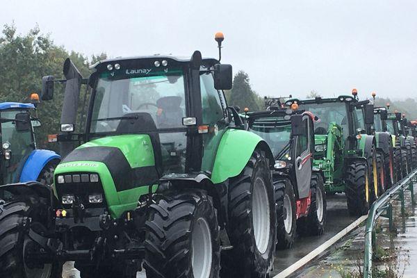 Manifestation des agriculteurs à Laval le 8 octobre 2019