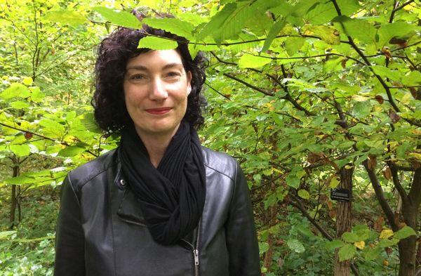 Rebekka Mahr vient souvent rendre visite à son père, enterré sous cette charmille, dans la forêt de Rheinau