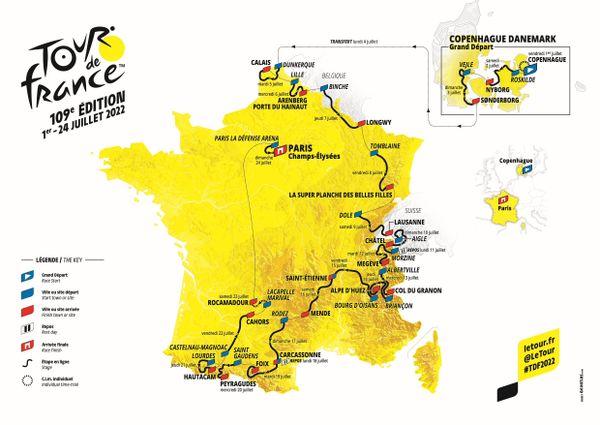 Le parcours du Tour de France 2022 a été dévoilé le 14 octobre à Paris.