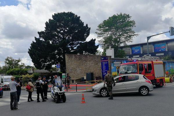 Le périmètre de sécurité aux abords du Roazhon Park