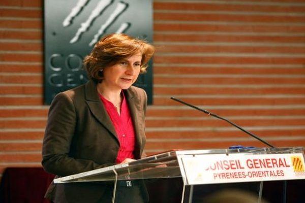 Hermeline Malherbe-Laurent, présidente socialiste du conseil général des Pyrénées-Orientales - 2012