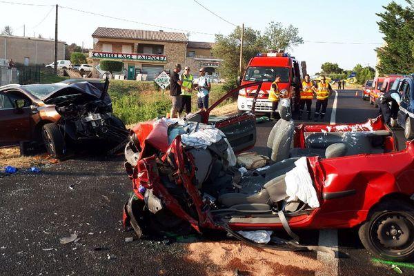 Un grave accident de la circulation s'est produit sur la RN 6086, à hauteur de la commune deSaint-Nazaire, dans le Gard - 14 juillet 2018