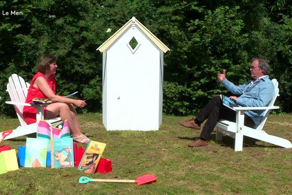 La Cabine de Pages, dans le jardin d'Yvon Le Men, à Lannion