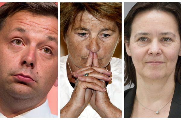 Bastien Faudot, Marie-Guite Dufay et Stéphanie Modde