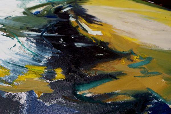 """« Je peins abstrait parce que je vois abstrait"""" dit Frédérique Clément"""
