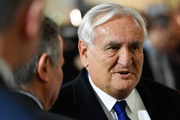 Jean-Pierre Raffarin, sénateur LR de la Vienne, au meeting de François Fillon à La VilLette le 29 janvier 2017.