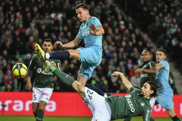 Malgré un match de qualité, l'OM s'est incliné à Saint-Etienne (2-1), mercredi soir