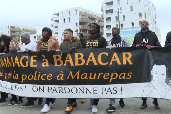 Une marche a eu lieu en 2019, en hommage à Babacar mort après l'intervention de la police à Maurepas
