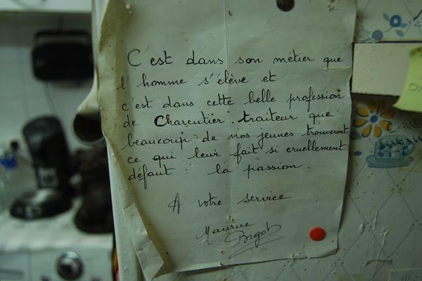 Charcuteir-traiteur : un métier que Maurice Bigot aime transmettre, toujours avec le sens de la formule !