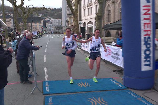 Les frères Gras remportent ensemble le semi-marathon de Tulle