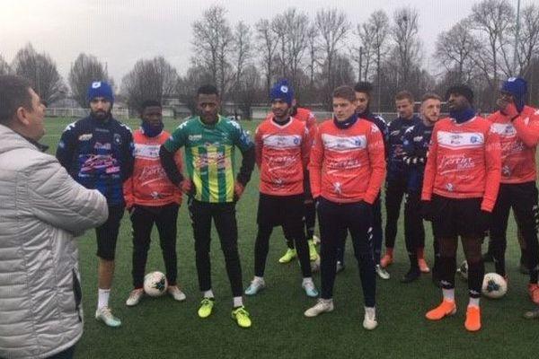 Le maire  de Raon-l'Etape, Benoit Pierrat, est venu encourager les joueurs
