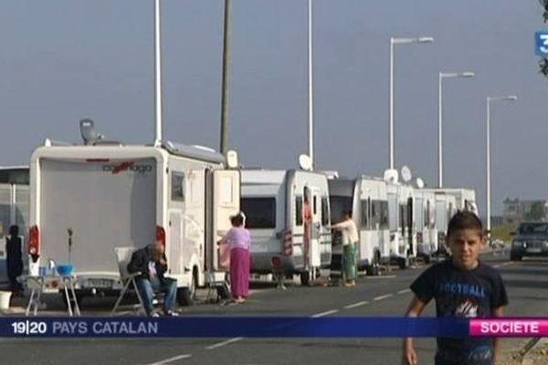 15 caravanes se sont à nouveau installées dans la ZAC de Torremilla, à Perpignan