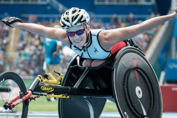 Marieke Vervoort, médaille d'argent aux Jeux Paralympiques de Rio.