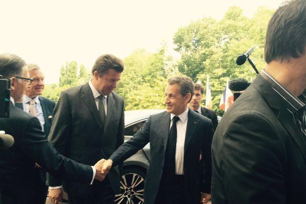Nicolas Sarkozy en visite dans l'Oise