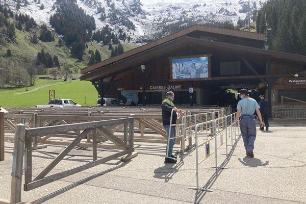 Derniers préparatifs avant l'ouverture de la station de la Clusaz, les 23 et 24 mai 2021.