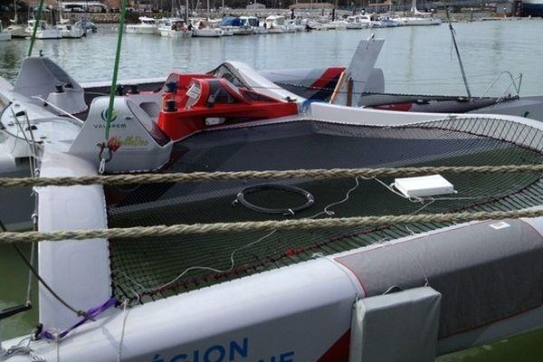 La mise à l'eau a eu lieu aujourd'hui à Port Médoc au Verdon.