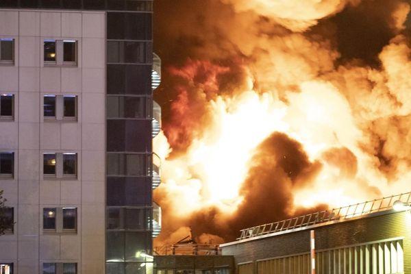 L'incendie de l'usine Lubrisol s'est déclaré vers 2h40 du matin dans la nuit de mercredi à jeudi.