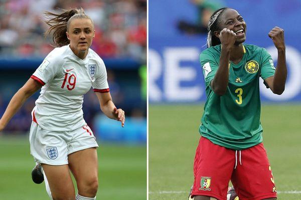À gauche, Georgia Stanway, l'un des espoirs montants de l'équipe d'Angleterre. À droite, Ajara Stanway, symbole d'émancipation et héroïne de l'équipe du Cameroun.