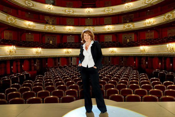 Muriel Mayette, administratrice de la Comédie-Française, dans la salle Richelieu.