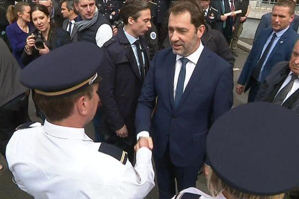 Le ministre de l'Intérieur, Christophe Castaner, est venu rendre visite aux policiers et gendarmes de Gap