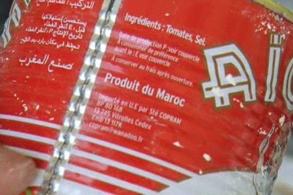 Sète (Hérault) - 16kg de haschisch retrouvés dans des boîtes de conserves de tomates provenant du Maroc - 5 juillet 2013.