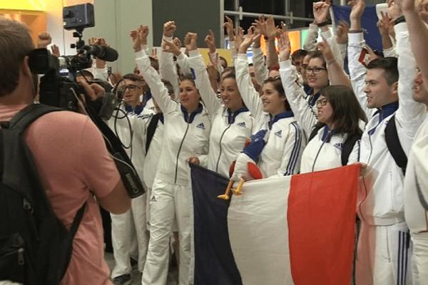 L'Equipe de France au Brésil.