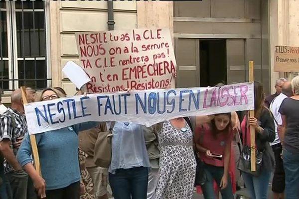 Manifestation à Vittel
