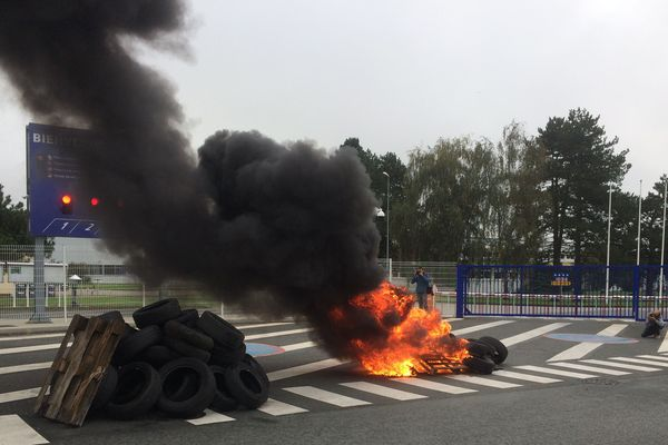 Mouvement des salariés de l'usine Michelin de La Roche-sur-Yon, le 24 octobre 2019