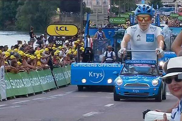 La caravane du Tour de France comprend pas moins de 160 véhicules