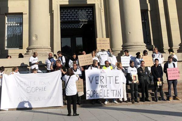 Ce vendredi, devant le tribunal de grande instance de Strasbourg.