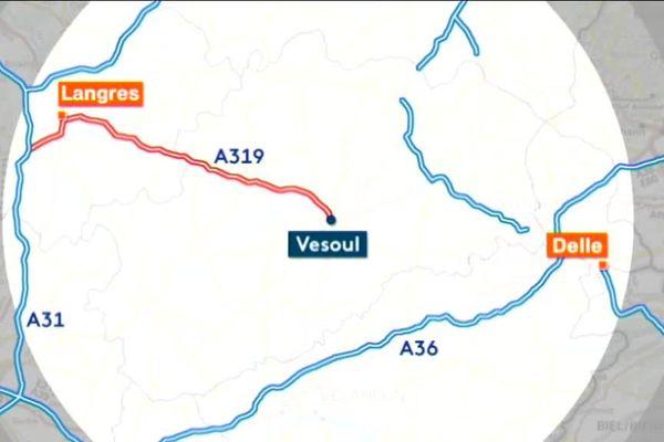 L'A319 relierait Vesoul à Langres permettant un accès facile à l'A5 et l'A31.