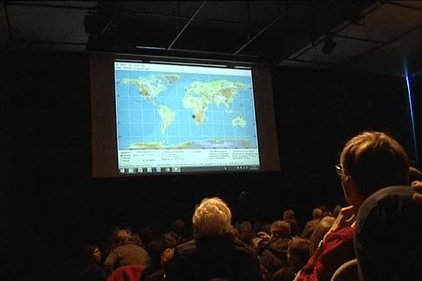 250 élèves de Belle-Île sont entrés en ommunication radio avec Thomas Pesquet en direct de la Station Spatiale Internationale