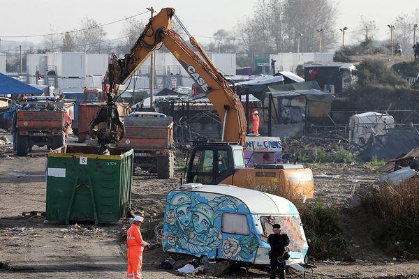 """Le démantèlement de la """"Jungle"""" de Calais avait eu lieu en octobre 2016."""